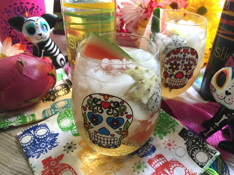 A Prickly Pear Mexican Sangria for Day of the Dead Festivities