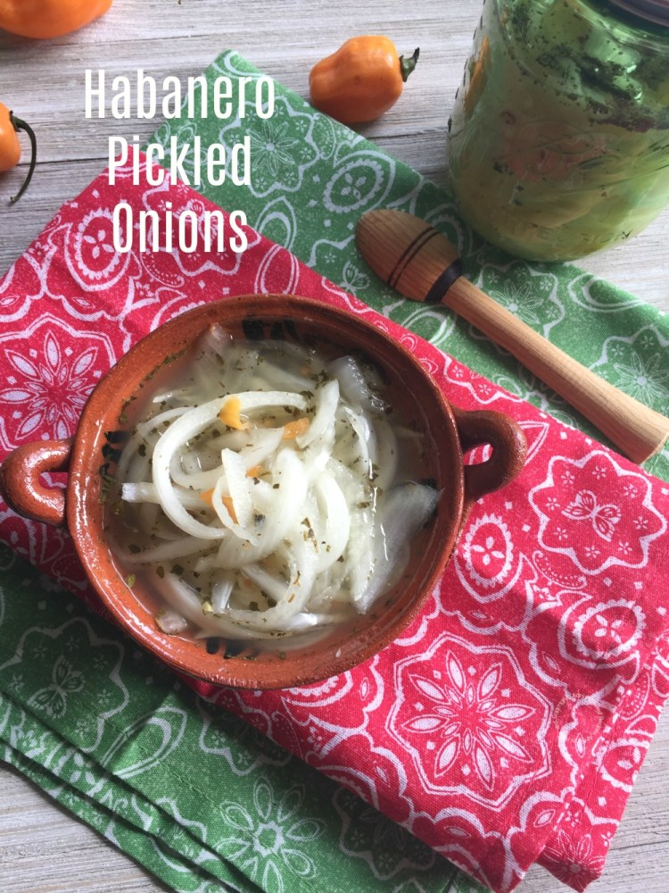 Spicy Habanero Pickled Onions
