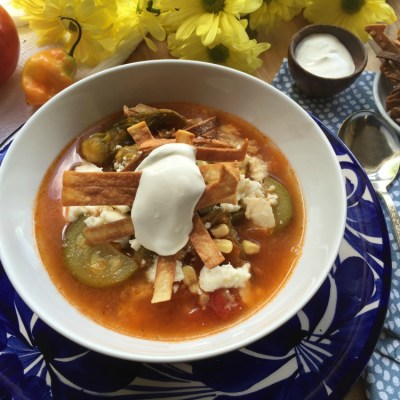 Mexican Zucchini Flower Soup