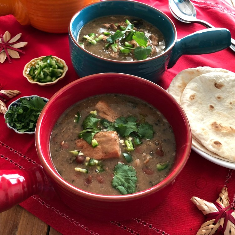 The Sonora Pork Stew is a family favorite and a perfect dish for the Holidays and Las Posadas