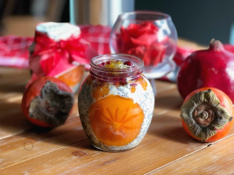 Overnight Chia and Oats with Fresh Fruit and Honeycomb