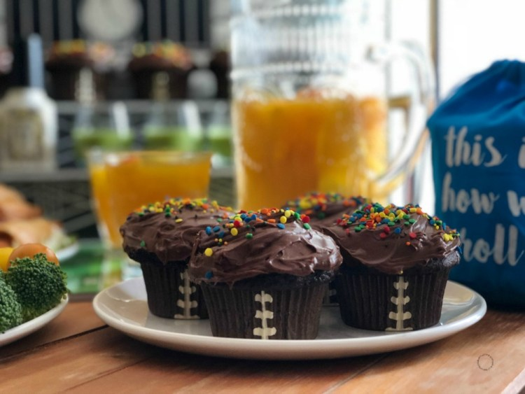 Touchdown Chocolate Cupcakes