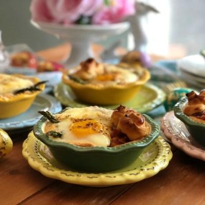 Mini Pays de Huevo con Espárragos