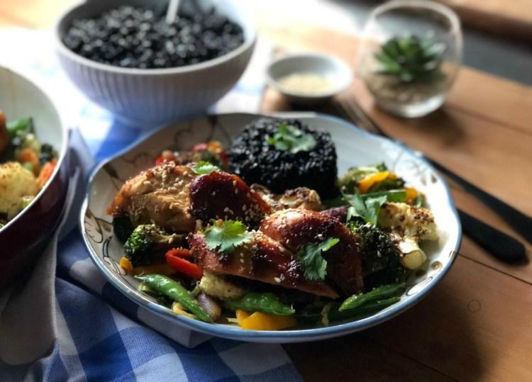 Sheet Pan Hoisin Garlic Chicken for Dinner