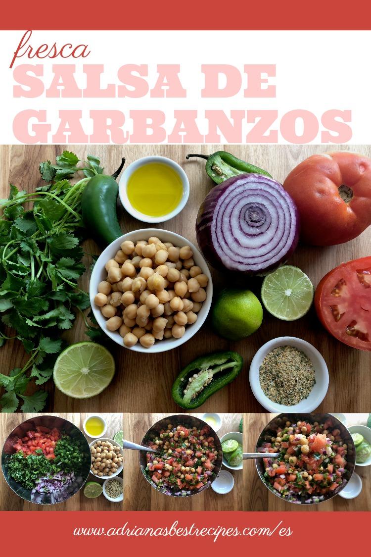 Como hacer salsa fresca de garbanzos