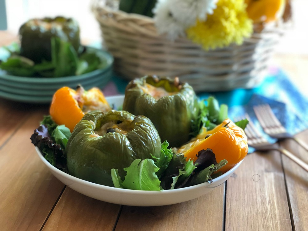 Delightful Meatless Recipe for Mexican Style Stuffed Florida Bell Peppers