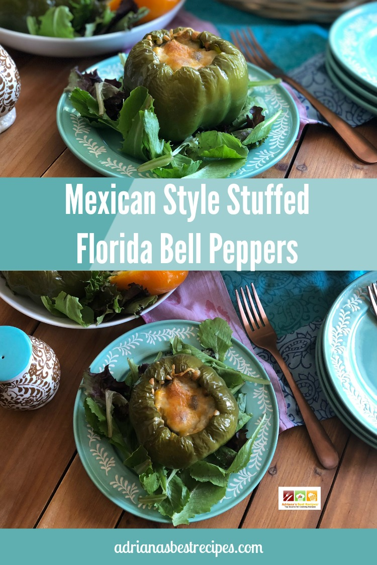 Enjoy this Mexican Style Stuffed Florida Bell Peppers with a meatless twist. Ready in 30 minutes or less