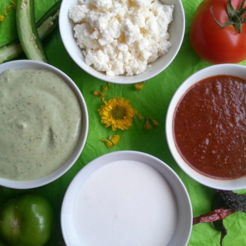 Las Salsas Picantes y el Guacamole nunca faltan en la Cocina Mexicana