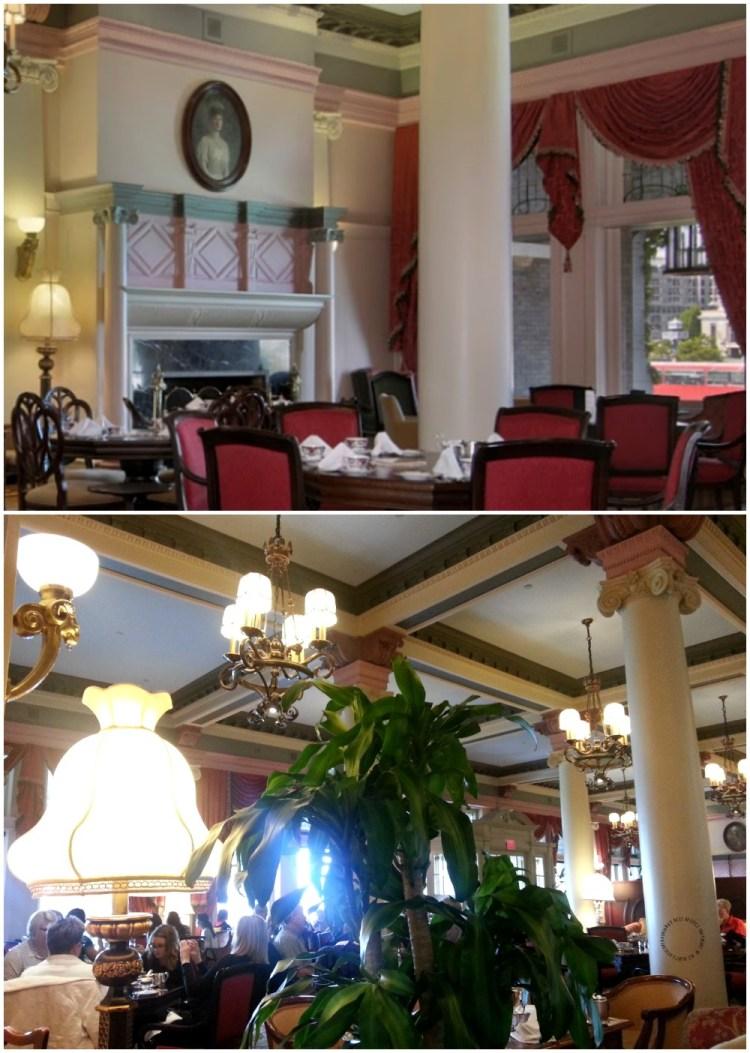 Esperando por nuestra mesa en el lounge del Fairmont Empress