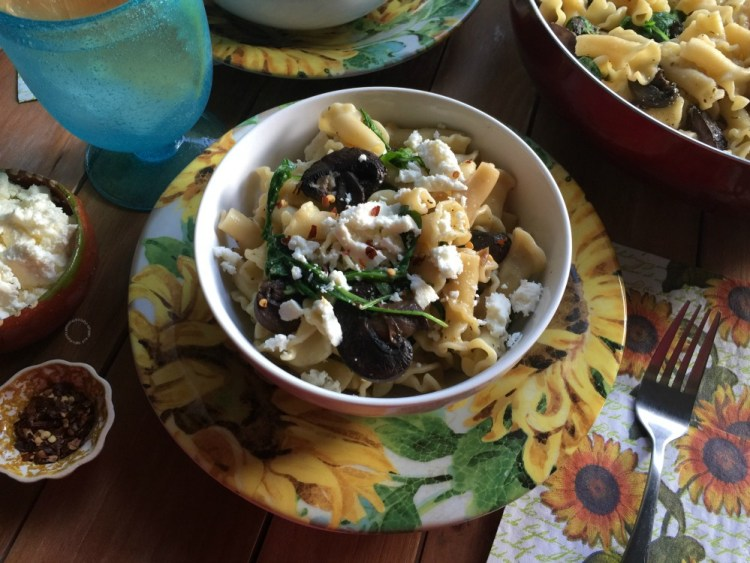 Campanelle Pasta with Mushrooms and Mexican Flavors