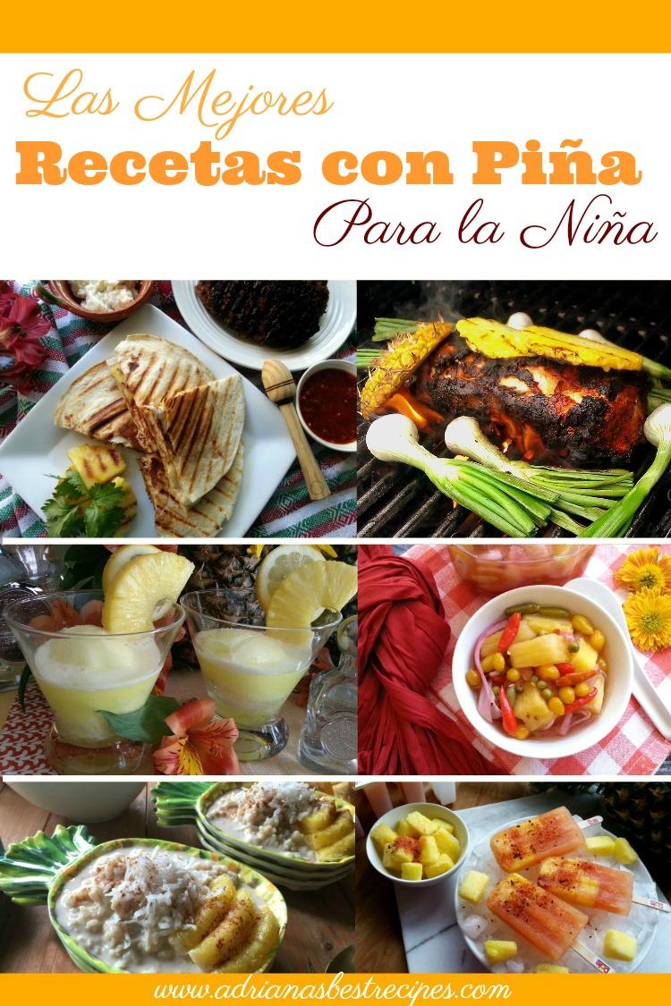 Celebremos a la dulce piña haciendo las mejores recetas con piña para la niña