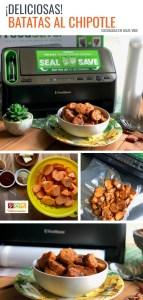 Deliciosas Batatas al Chipotle Cocinadas en Sous-Vide