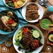 Delicious grilled smokey boneless pork chops
