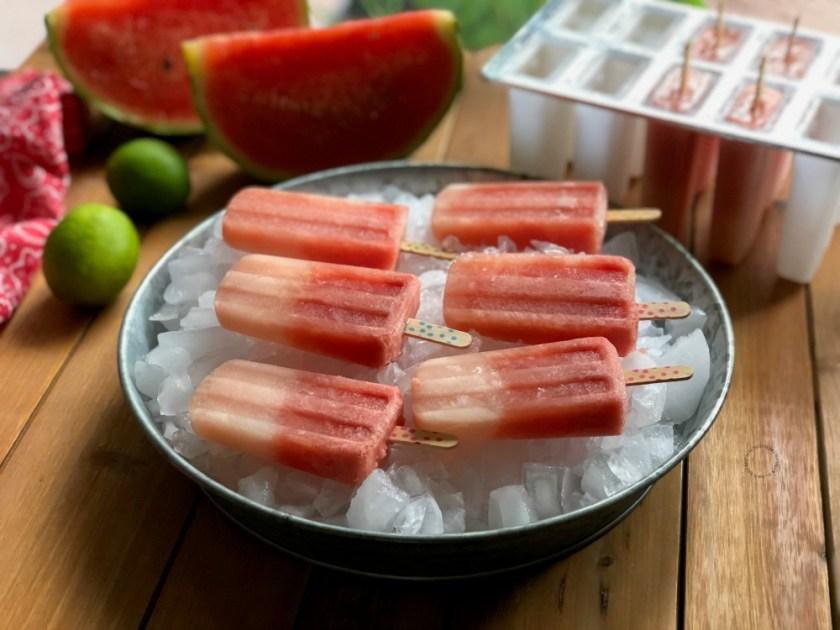 Watermelon lemonade ice pops recipe