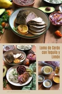 El lomo de cerdo con tequila y limón está inspirado en el famoso coctel margarita