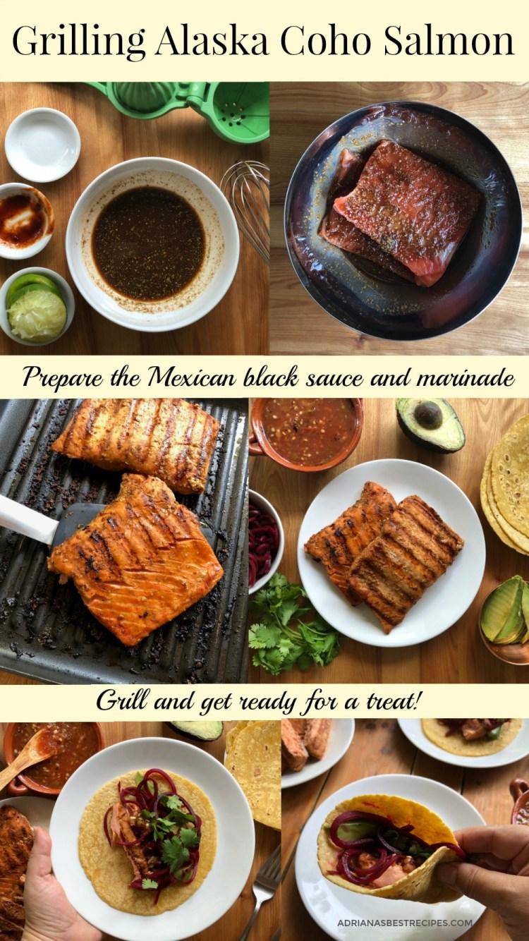 How to make the grilled Alaska coho salmon tacos