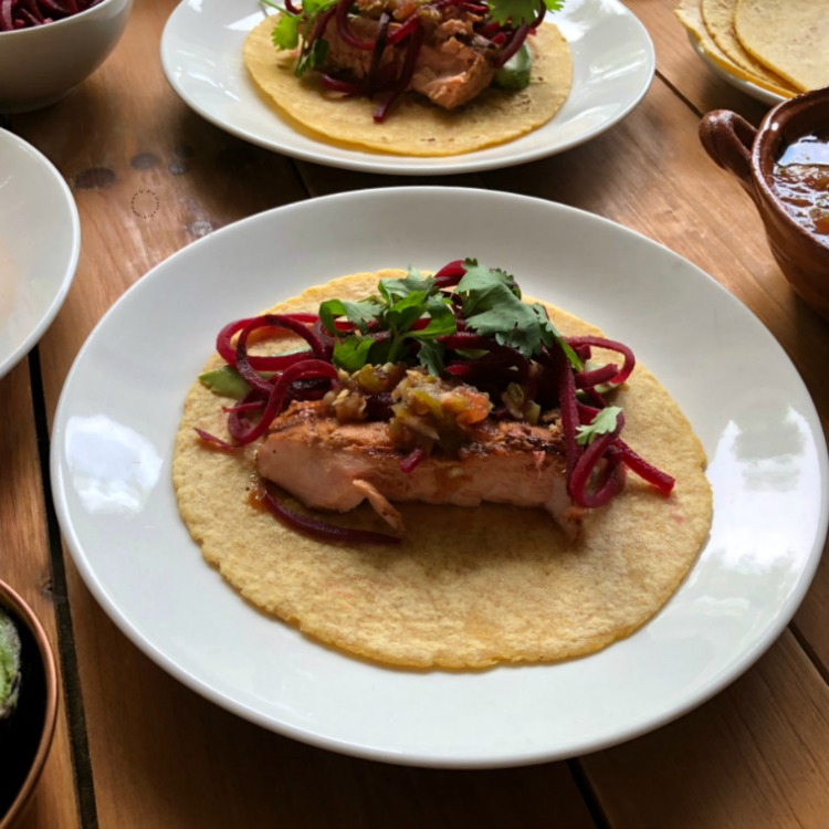 Make the this grilled Alaska coho salmon tacos today