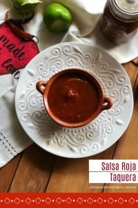 Salsa Roja Taquera auténtica hecha en casa