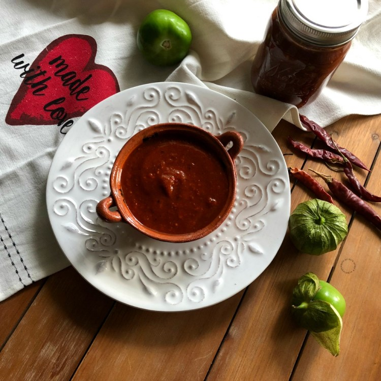The Mexican red toasted salsa is flavorful and adds a smoky note to meals