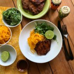 The grilled adoboporkchops are the perfect dish to celebrate the fall