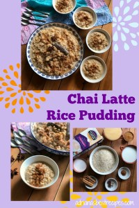 A comforting Chai Latte Rice Pudding to celebrate Me Time before the holidays