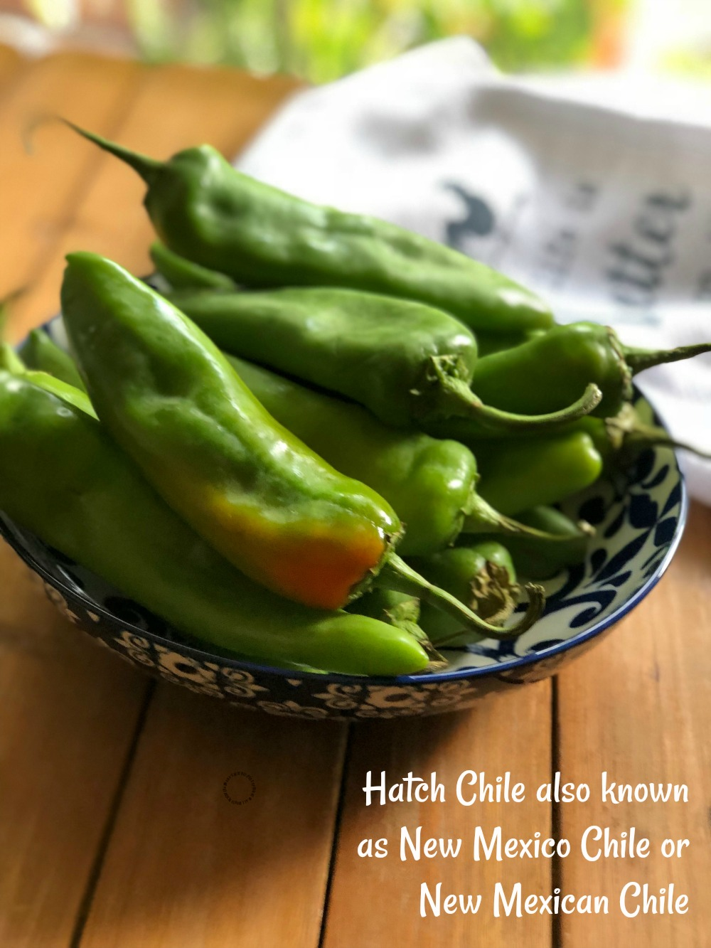 Hatch Chile also known as New Mexico Chile or New Mexican Chile