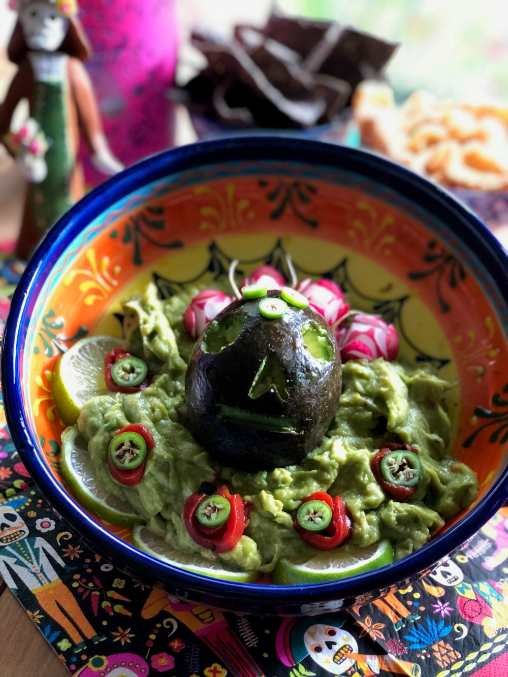 Prepare the Skull Guacamole for your Day of the Dead feast