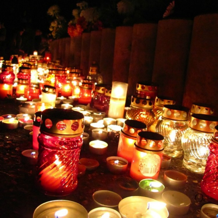 Candles lit the way of the souls
