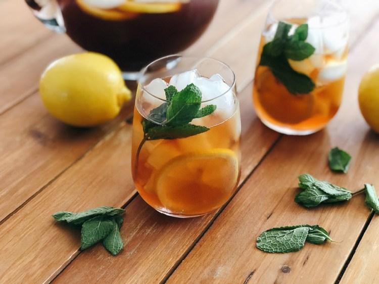 Receta para el te negro helado con menta