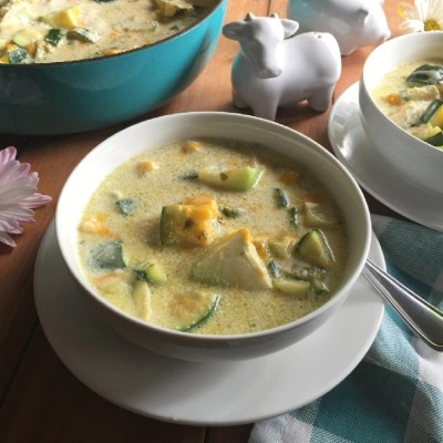 Creamy Chayote Zucchini Side Dish