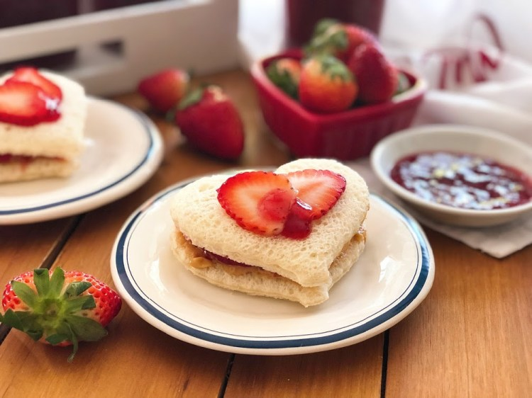 Make Strawberry PB&J sandwiches for Valentines Day