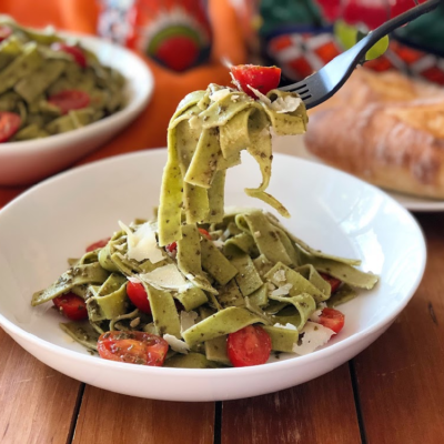 Florida Tomatoes Green Fettuccine Recipe