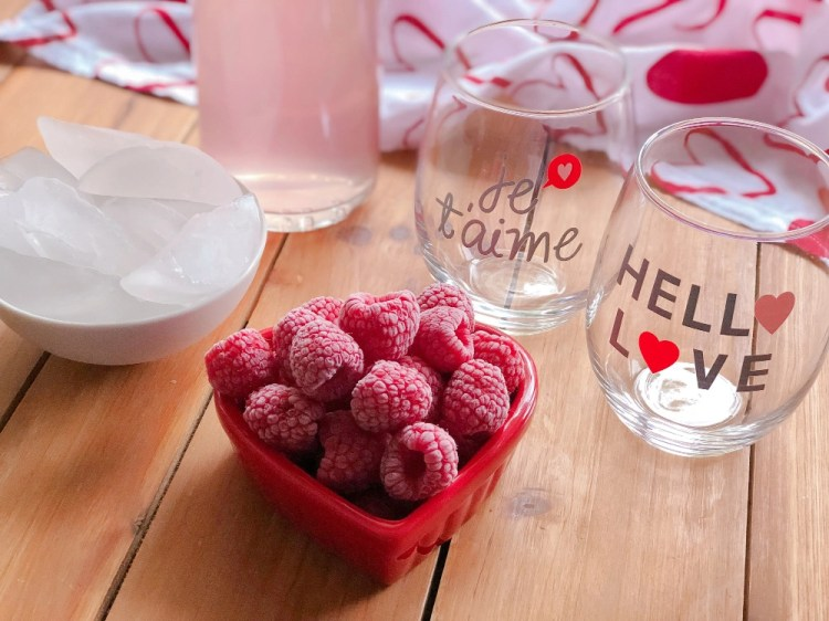 Ingredients for making the Italian Pink Lemonade