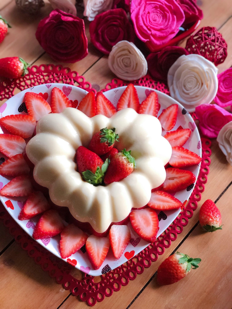The Strawberries N Cream jello dessert is perfect for Valentines Day
