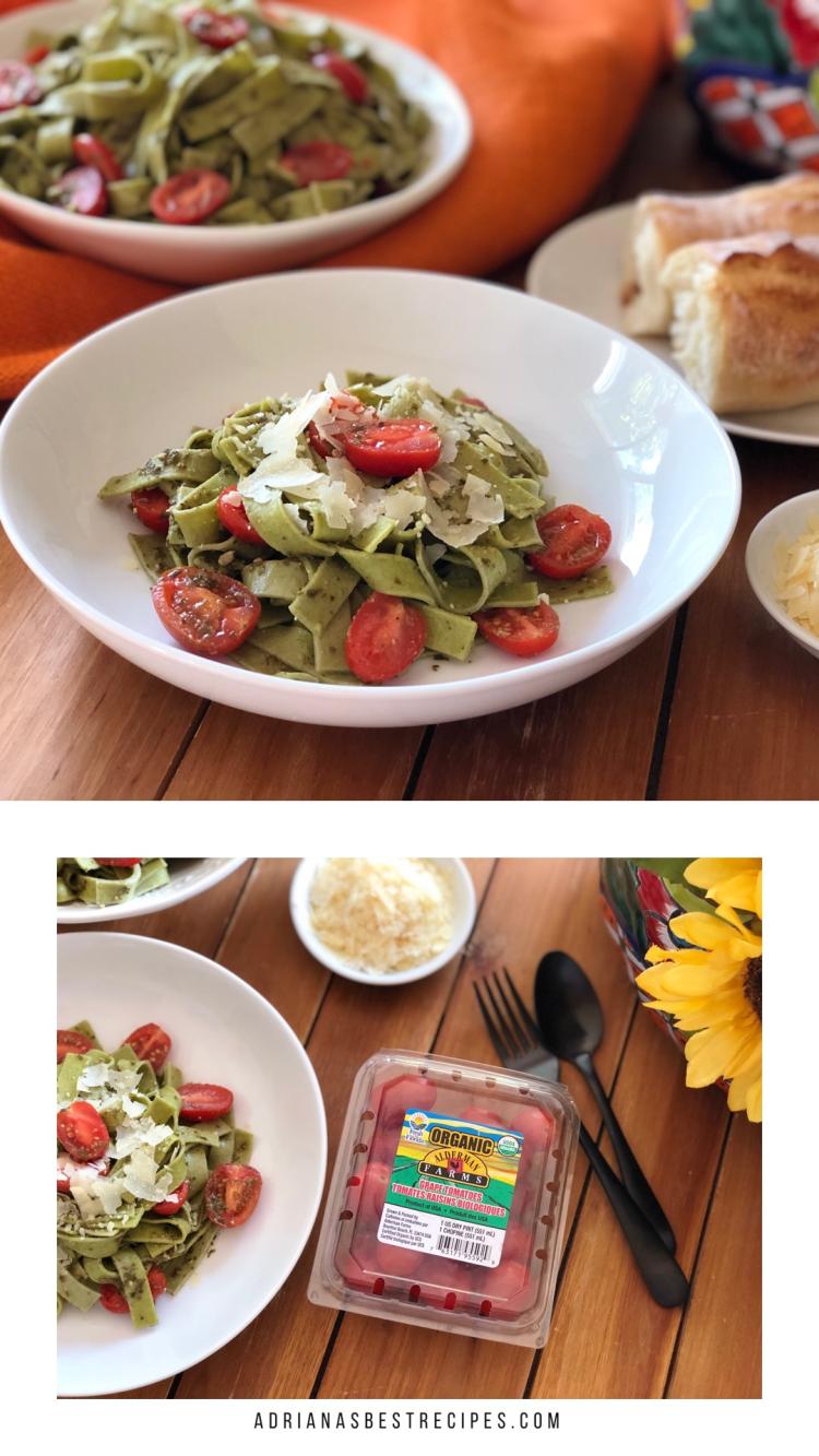 Los tallarines verdes con tomates floridanos es perfecta para el menú semanal
