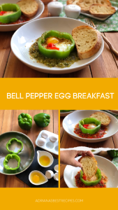 Bell Pepper Egg Breakfast inspired by the Mexican classic huevos rancheros but with a twist
