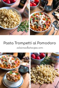 Pasta Trompetti al Pomodoro inspirada en el viaje que hicimos a Sorrento