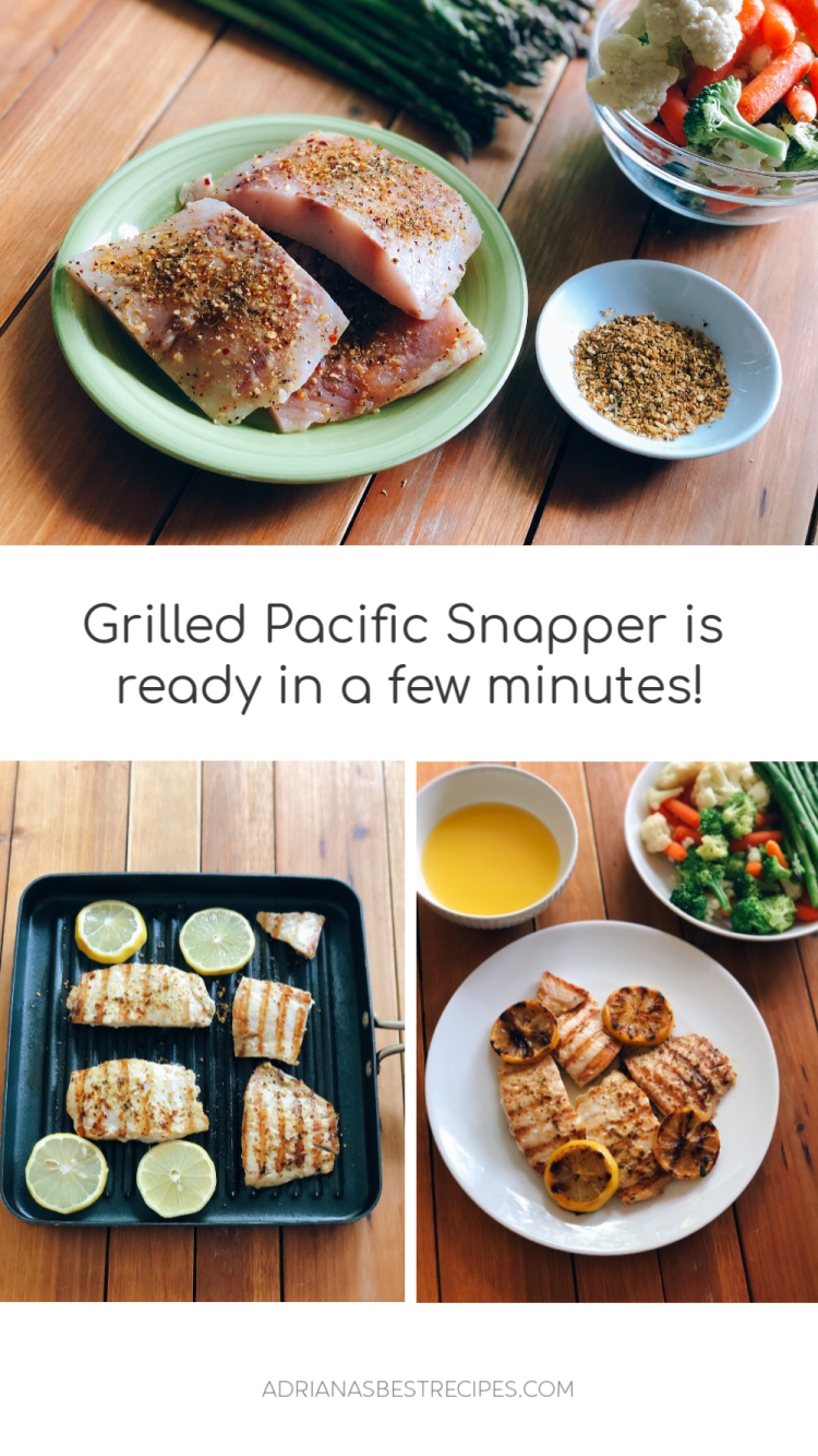 Showing the steps on how to make the grilled rockfish or pacific snapper at home