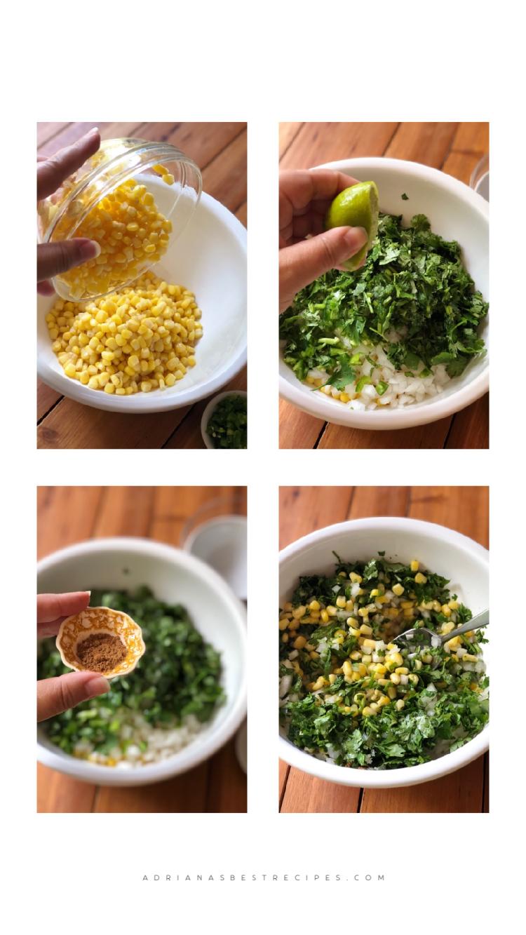 Combina todos los ingredientes en un tazón y sirve.