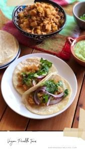 Vegan Picadillo Tacos with Kohlrabi