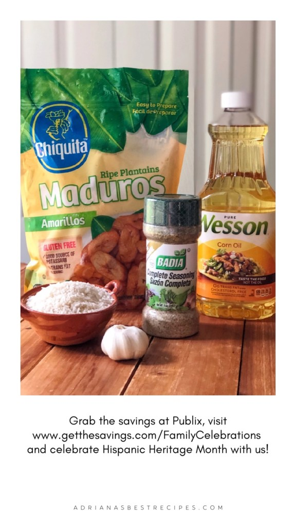 Grab the savings at Publix purchase the amarillos, the seasoning, the rice, the garlic and the cooking oil to make this recipe.