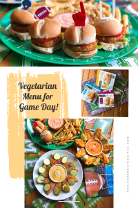 Tackle your hunger with this vegetarian menu I prepared for football season using Gardein Plant-Based products and pairing with homemade sauces and produce. The menu includes fishless fillets, seven-grain crispy tenders, and Gardein crispy chick'n sliders paired with tomato slices and romaine lettuce.