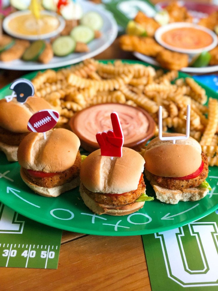 We used football inspired elements to create a party vibe.