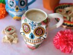 Mexican marzipan atole made with maicena and Mexican candy