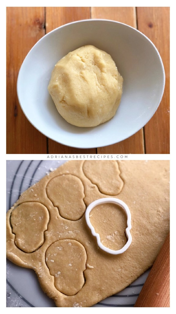 The sugar cookie dough has to be kept cold for easy cutting