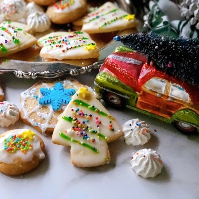 Christmas Cookies for Santa and Beyond shaped as trees and snowflakes