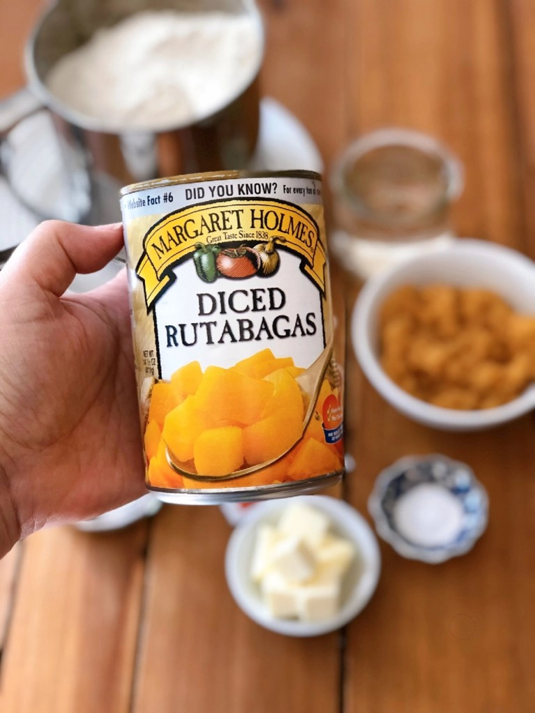 This is the canned rutabagas from Margaret Holmes, a McCall Farms brand