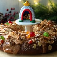 Three Kings Day Bread or Roscón de Reyes