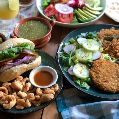 This is the pork milanesa three ways. We made a dinner, a sandwich, and a salad using same pork loin recipe.