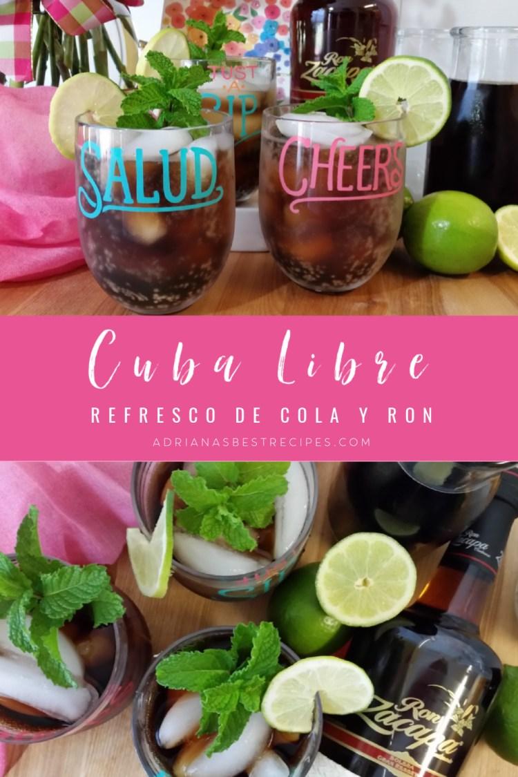 Cóctel cubano con ron y coca cola